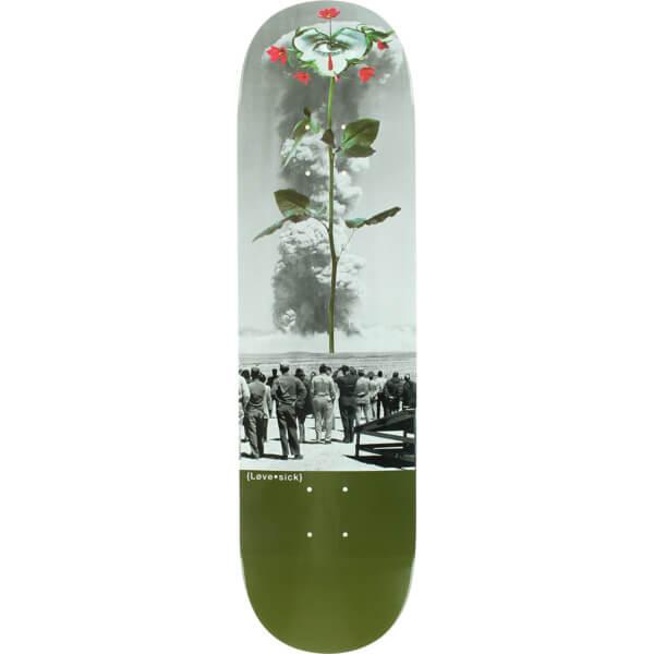 Lovesick Skateboards Nuclear Rose Skateboard Deck 8 25 X