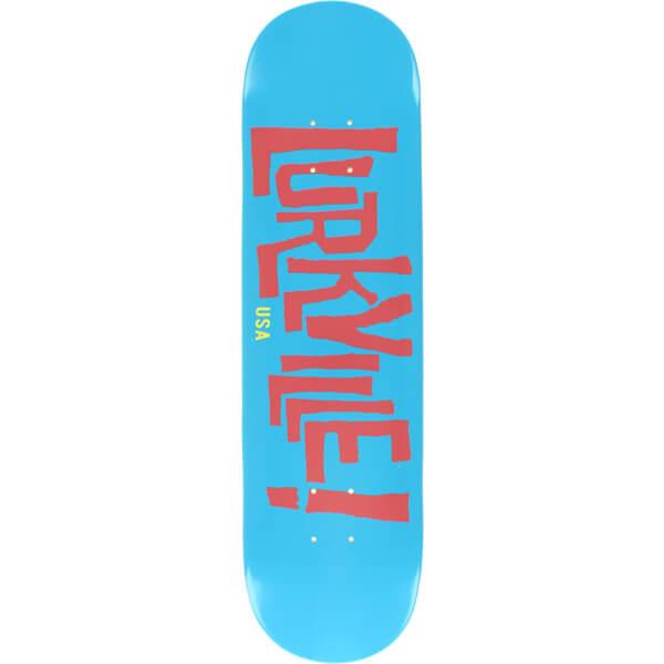 "Lurkville Skateboards Brendan Keaveny Logo Blue / Pink Skateboard Deck - 8"" x 32"""