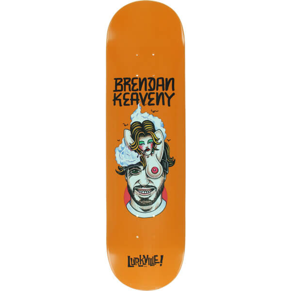"Lurkville Skateboards Brendan Keaveny TT Pro Skateboard Deck - 8"" x 32"""