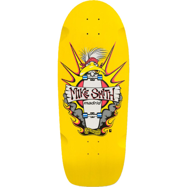 "Madrid Skateboards Mike Smith Duck Reissue Yellow Old School Skateboard Deck - 10.75"" x 31"""