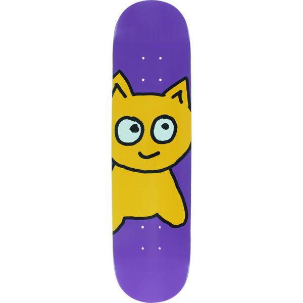 "Meow Skateboards Big Cat Purple Skateboard Deck - 7.75"" x 31.625"""