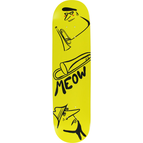 "Meow Skateboards Jazz Yellow Skateboard Deck - 7.75"" x 31.625"""