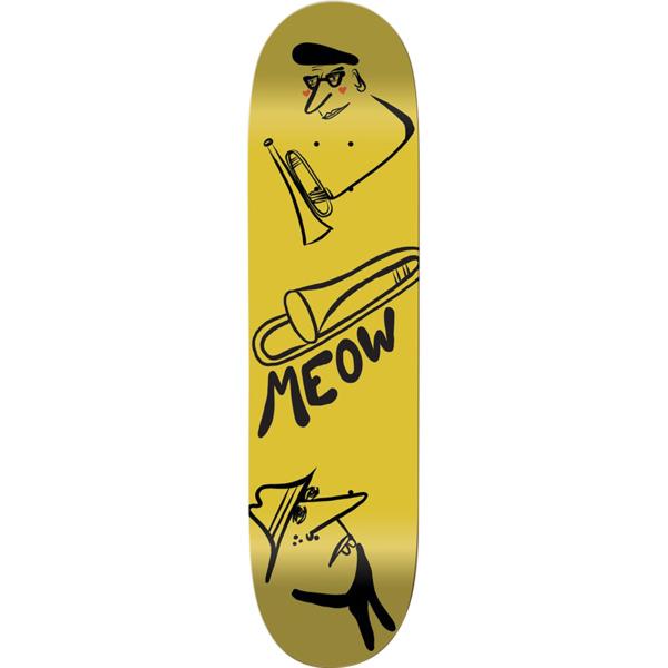 """Meow Skateboards Jazz Yellow Skateboard Deck - 8.25"""" x 31.75"""""""