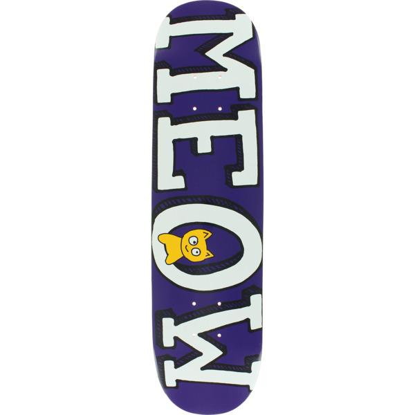 "Meow Skateboards Logo Mini Purple Skateboard Deck - 7.25"" x 29"""