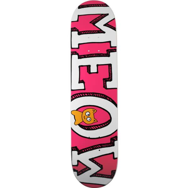 "Meow Skateboards Logo Pink Skateboard Deck - 7.75"" x 31.625"""