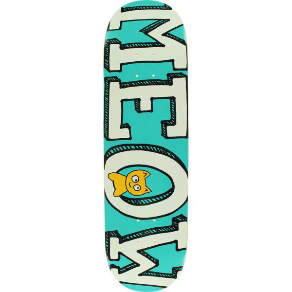 "Meow Skateboards Logo Teal Skateboard Deck - 8.5"" x 32.125"""