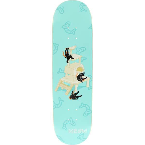 "Meow Skateboards Meowntain Teal Skateboard Deck - 8.25"" x 32.125"""