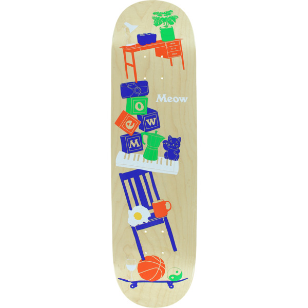 "Meow Skateboards Precarious Skateboard Deck - 8.25"" x 32.125"""