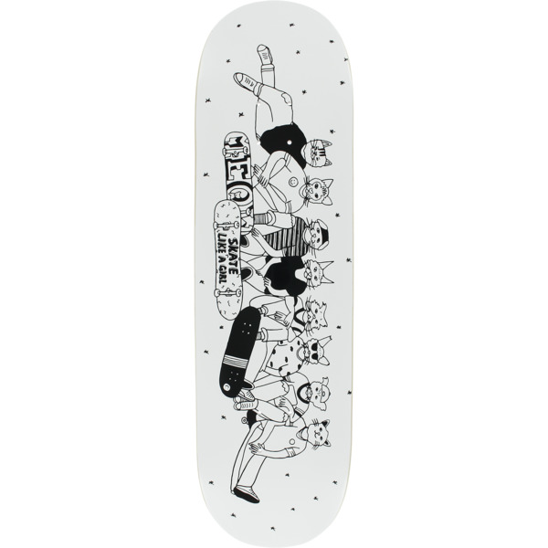 "Meow Skateboards X Skate Like A Girl Skateboard Deck - 8.5"" x 32"""