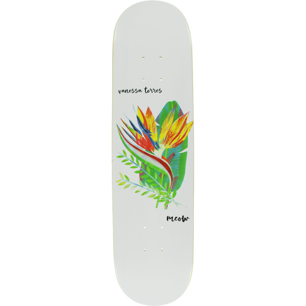 "Meow Skateboards Vanessa Torres Your Paradise Skateboard Deck - 7.75"" x 31.625"""