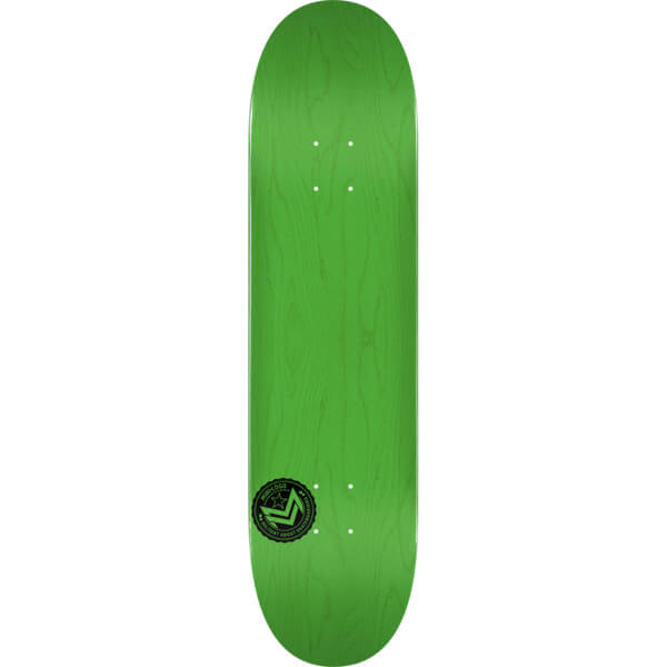 "Mini Logo Chevron Stamp Green Skateboard Deck 124 - 7.5"" x 31.375"""