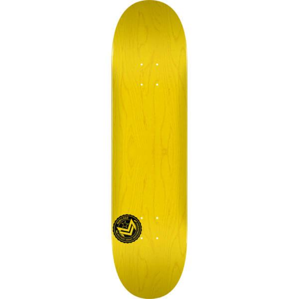 "Mini Logo Chevron Stamp Yellow Skateboard Deck 124 - 7.5"" x 31.375"""