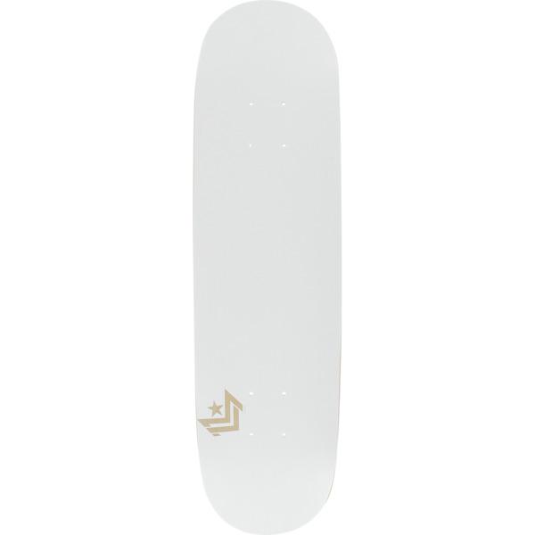"Mini Logo Chevron Pearl White Skateboard Deck 191 - 7.5"" x 31.375"""