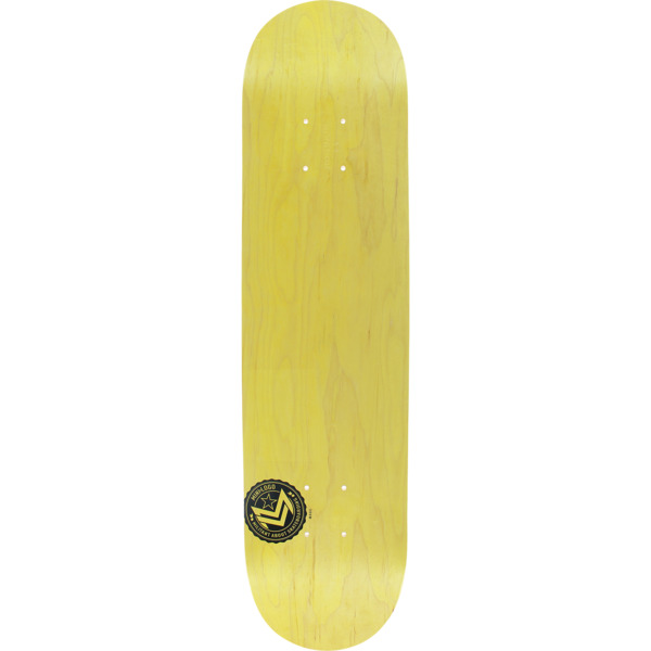 "Mini Logo Chevron Stamp Yellow Skateboard Deck 191 - 7.5"" x 31.375"""