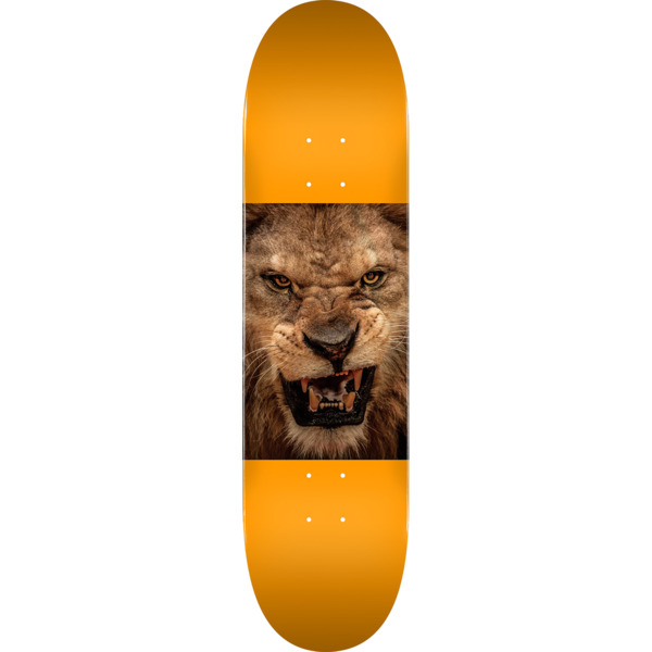 "Mini Logo Animal Lion Eyes Orange Skateboard Deck 255 - 7.5"" x 30.7"""