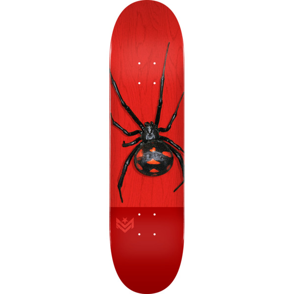 "Mini Logo Poison Black Widow Red Skateboard Deck 255/K20 - 7.5"" x 30.7"""