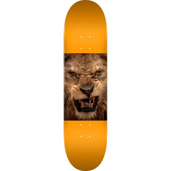 "Mini Logo Animal Lion Eyes Orange Skateboard Deck 291 - 7.75"" x 31.08"""