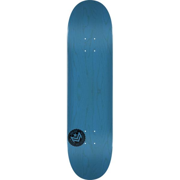 "Mini Logo Chevron Stamp Blue Skateboard Deck 243 - 8.25"" x 31.95"""
