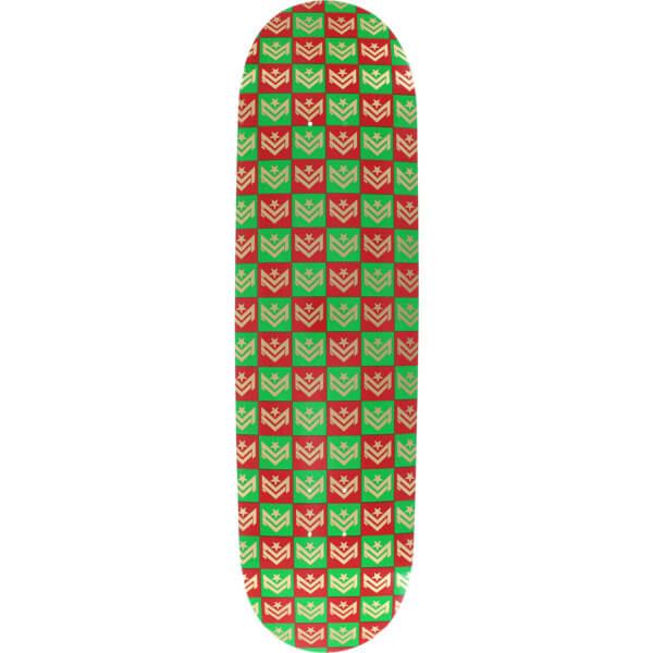 "Mini Logo Chevron Gift Wrap Green / Red Skateboard Deck 249 - 8.5"" x 32"""