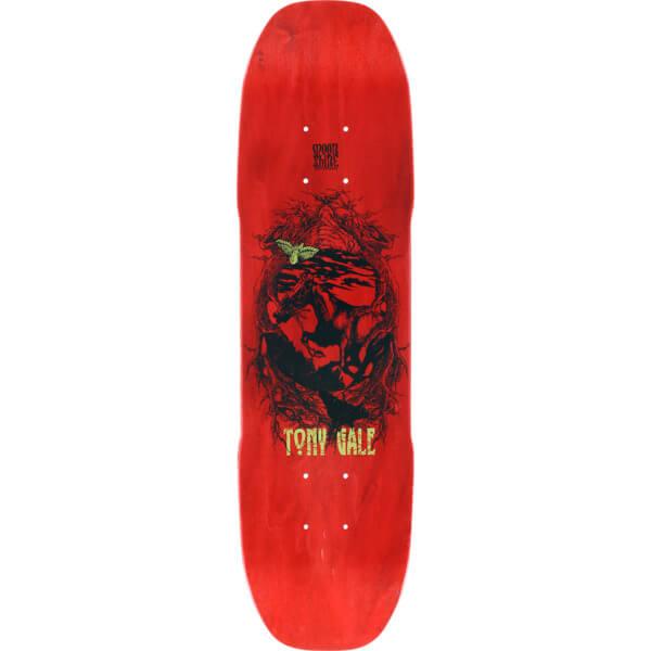 "Moonshine Skateboards Tony Gale Horse Red Stain Skateboard Deck - Art by Chris Alliston - 7.3"" x 28"""