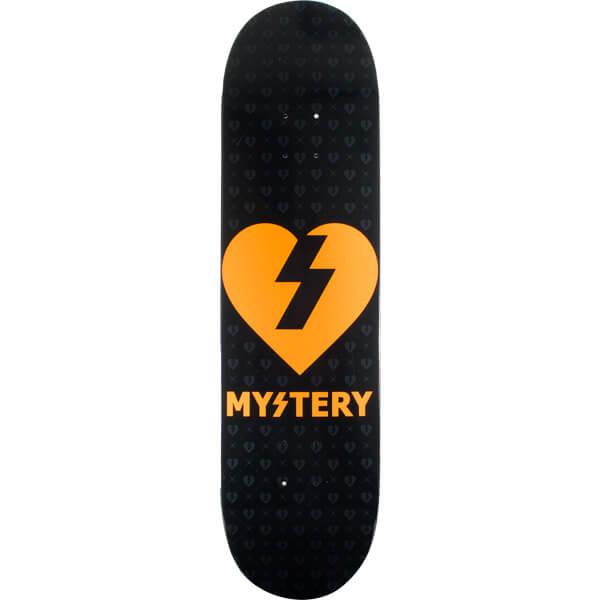Mystery Skateboards Orange Heart Deck