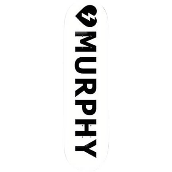 Mystery Skateboards Dan Murphy Logo Whte Skateboard Deck ... Mystery Skateboards Logo