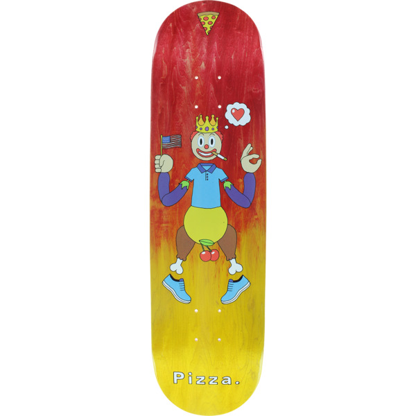 "Pizza Skateboards Keyboard Assorted Colors / Stain Skateboard Deck - 8.25"" x 32.5"""