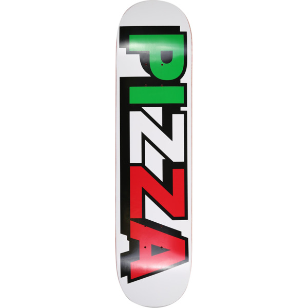 "Pizza Skateboards Tri Logo Skateboard Deck - 7.75"" x 31.5"""