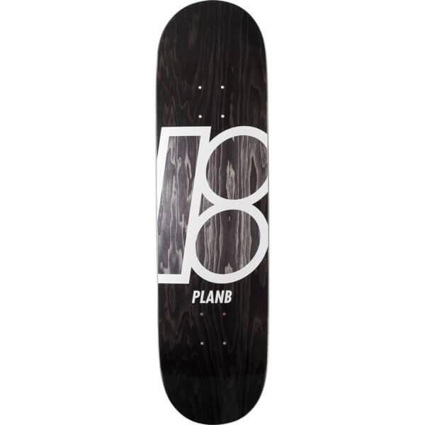 "Plan B Skateboards Stained Black Skateboard Deck - 8"" x 31.75"""