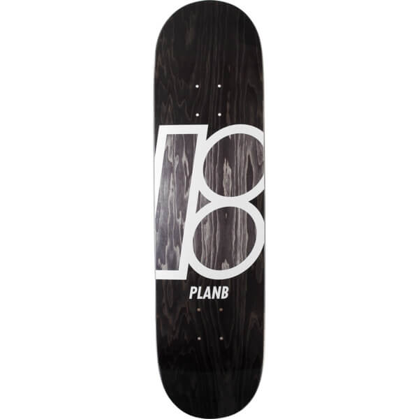 "Plan B Skateboards Stained Black Skateboard Deck - 8.25"" x 32.1"""