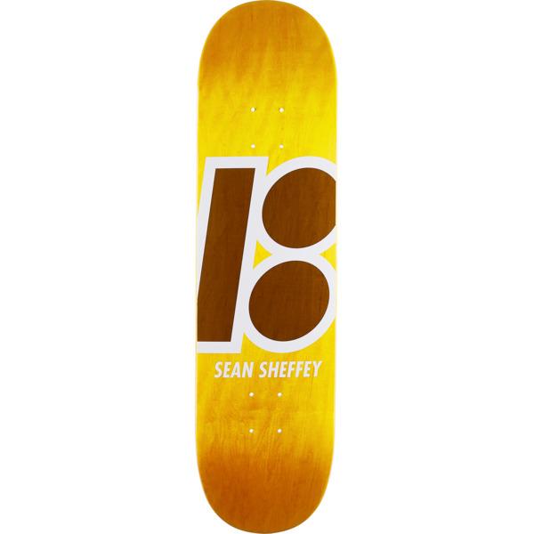 "Plan B Skateboards Sean Sheffey Stained Yellow Skateboard Deck - 8.25"" x 32.125"""