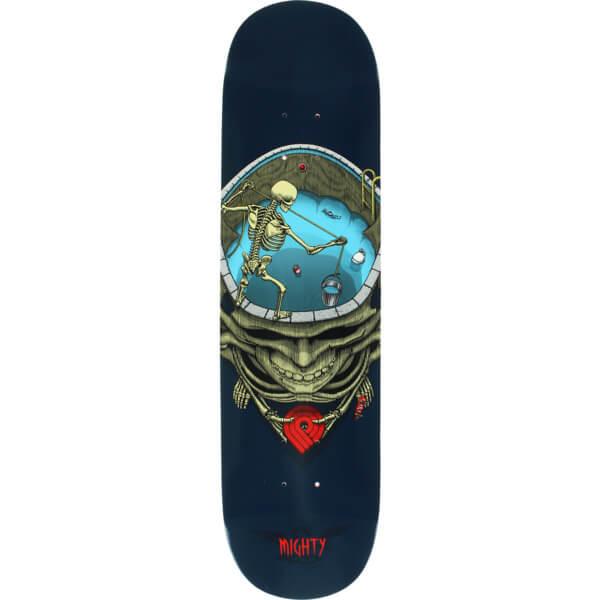 Powell Peralta Mighty Pool Skull Blue Skateboard Deck 8