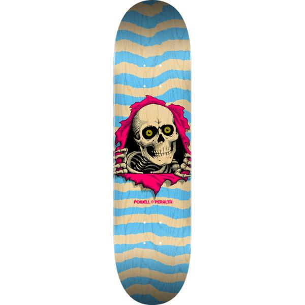 "Powell Peralta Ripper Natural / Blue Skateboard Deck - 8.25"" x 32"""