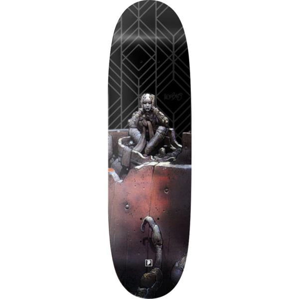 "Primitive Skateboarding Moebius Anxiety Man Black Skateboard Deck - 9.12"" x 32.187"""