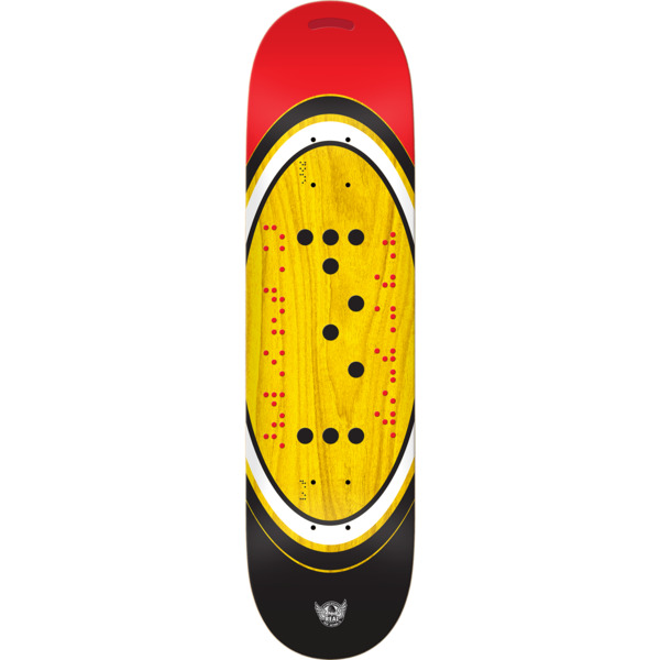 "Real Skateboards Dan Mancina Action Realized Braille Skateboard Deck - 8.06"" x 31.5"""