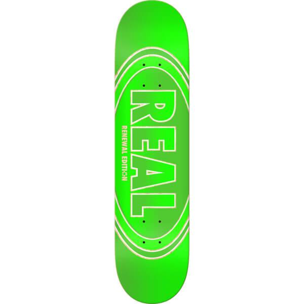 "Real Skateboards Crossfade Renewal Green Skateboard Deck - 8.06"" x 31.8"""