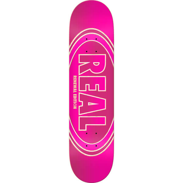 "Real Skateboards Crossfade Renewal Pink Skateboard Deck - 8.5"" x 32.25"""