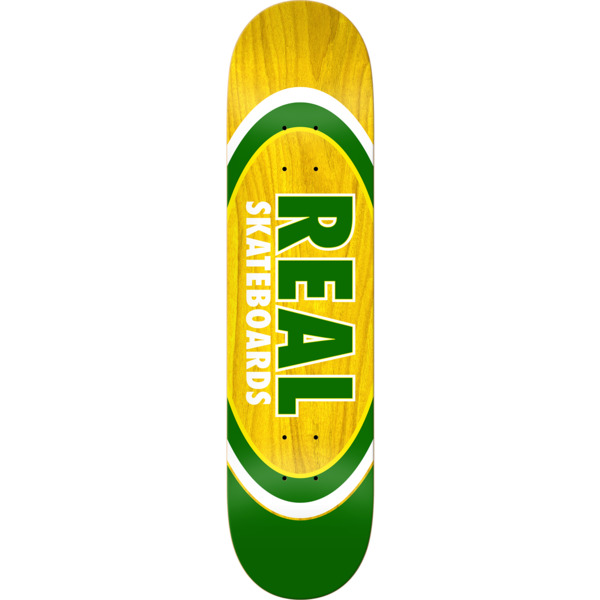 "Real Skateboards Slick Dual Oval Skateboard Deck - 8.25"" x 32"""