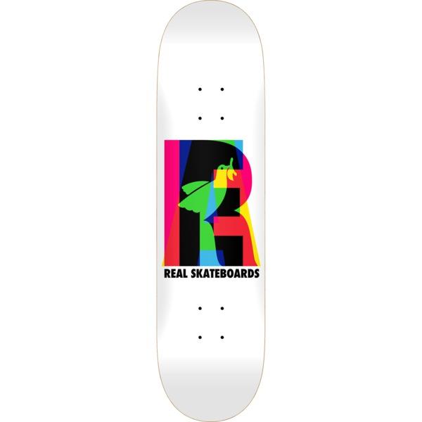 "Real Skateboards Eclipsing White Skateboard Deck - 7.68"" x 31.2"""