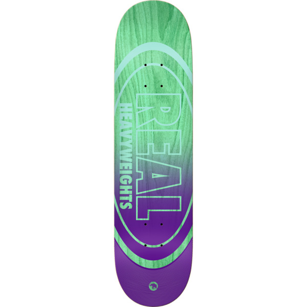 "Real Skateboards Heavyweights Teal Green Stain / Purple Skateboard Deck - 8.38"" x 32"""