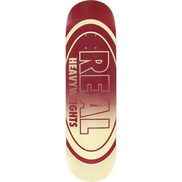 Real Skateboards Heavyweight Burgundy Skateboard Deck 8