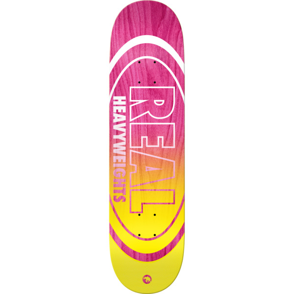 "Real Skateboards Heavyweights Pink Skateboard Deck - 8.25"" x 32"""