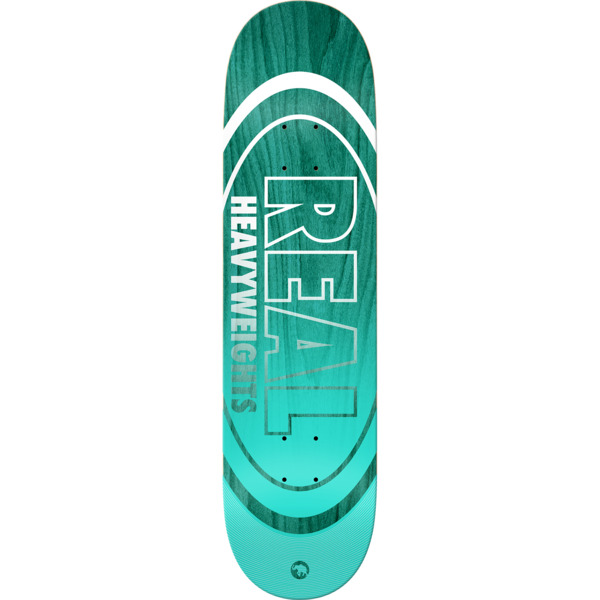 "Real Skateboards Heavyweights Turquoise Skateboard Deck - 8.38"" x 32.18"""
