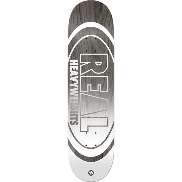 "Real Skateboards Heavyweights Grey Skateboard Deck - 8.5"" x 32.5"""