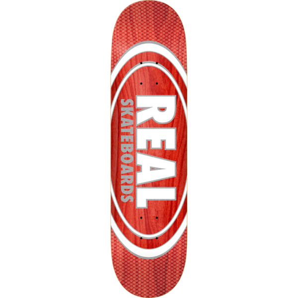 "Real Skateboards Oval Pearl Patterns Assorted Colors Skateboard Deck Slick - 8.25"" x 32"""