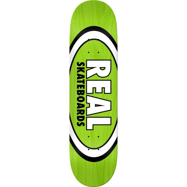 "Real Skateboards Overspray Oval Green Skateboard Deck - 8.06"" x 31.8"""