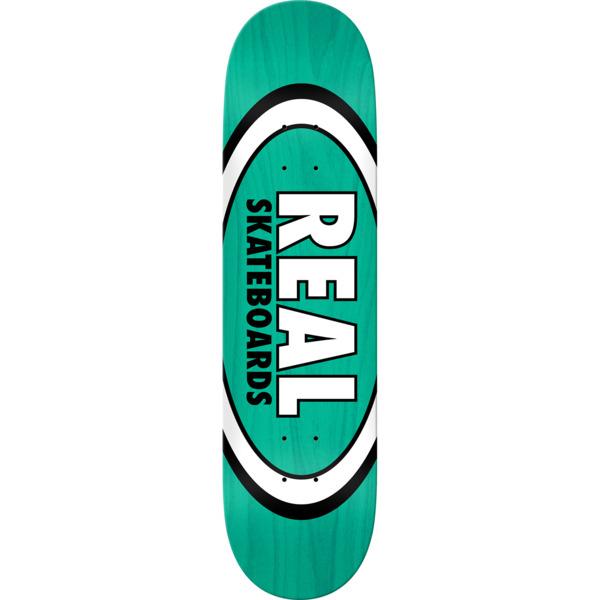 "Real Skateboards Overspray Oval Teal Skateboard Deck - 8.12"" x 32"""