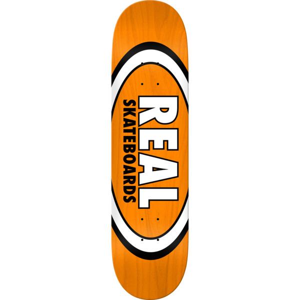 "Real Skateboards Overspray Oval Orange Skateboard Deck - 8.25"" x 32"""