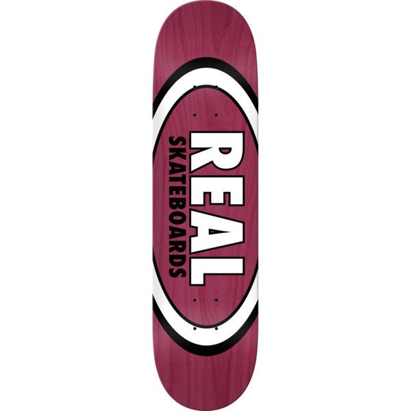 "Real Skateboards Overspray Oval Burgundy Skateboard Deck - 8.38"" x 32.25"""