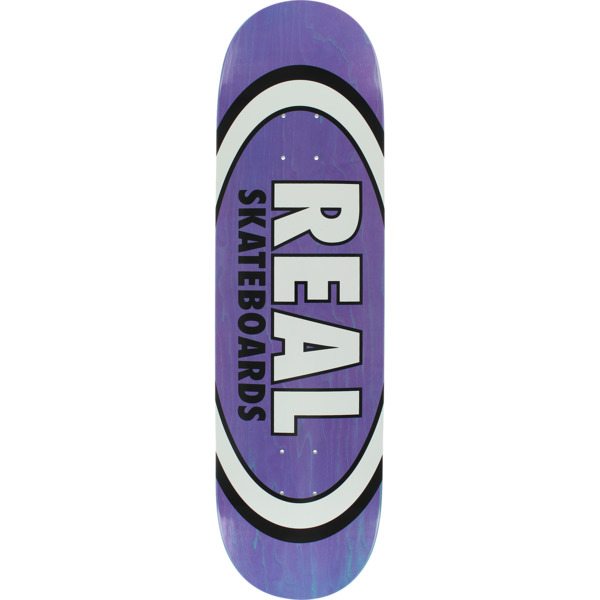 "Real Skateboards Overspray Oval Purple Skateboard Deck - 8.5"" x 32.25"""